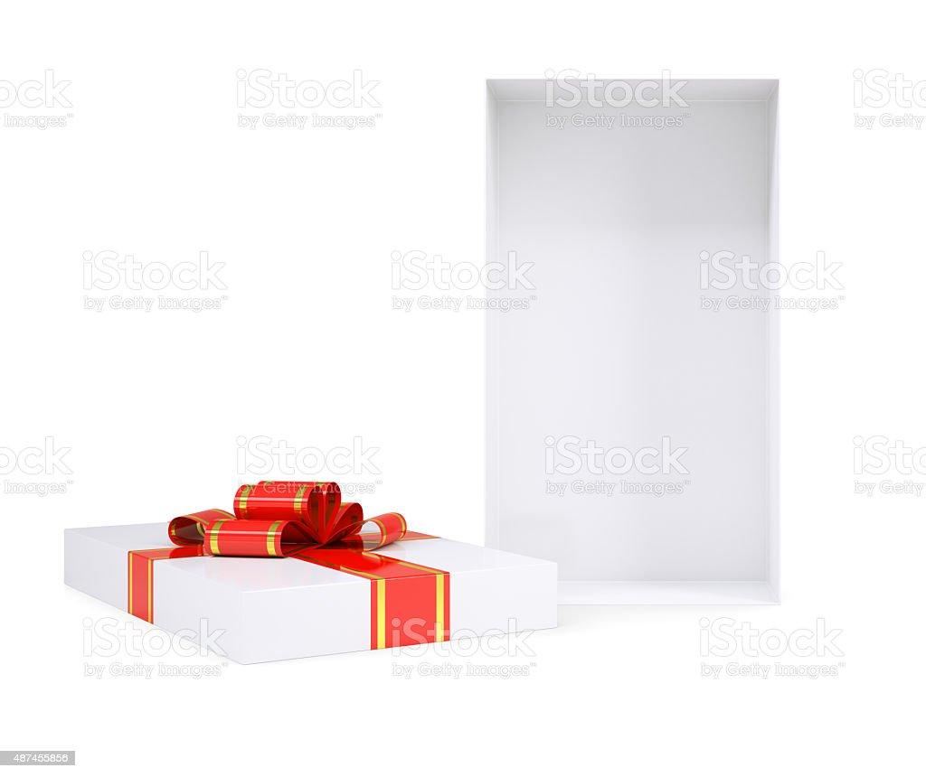 White gift box stock photo