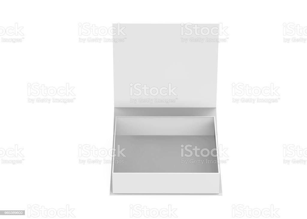 White gift box zbiór zdjęć royalty-free