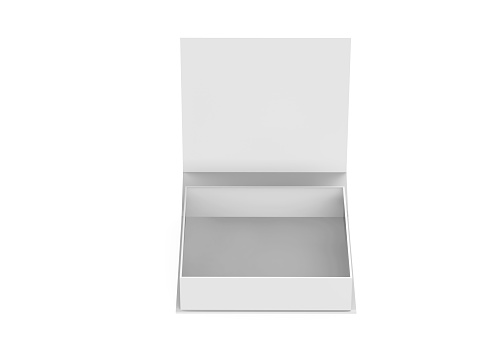 White Gift Box Stock Photo - Download Image Now