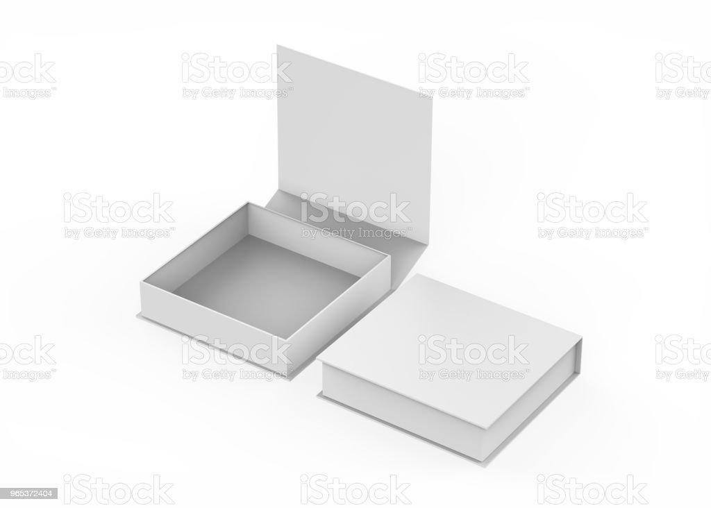 Boîte cadeau blanche - Photo de Affaires libre de droits