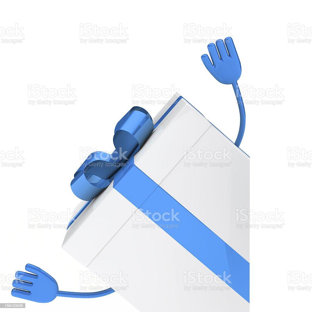 White gift box wave royalty-free stock photo