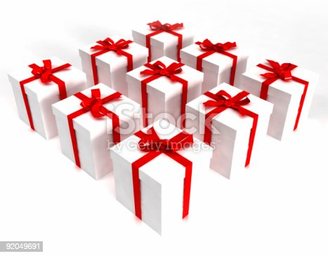 507751629 istock photo White gift boxes in a square 92049691