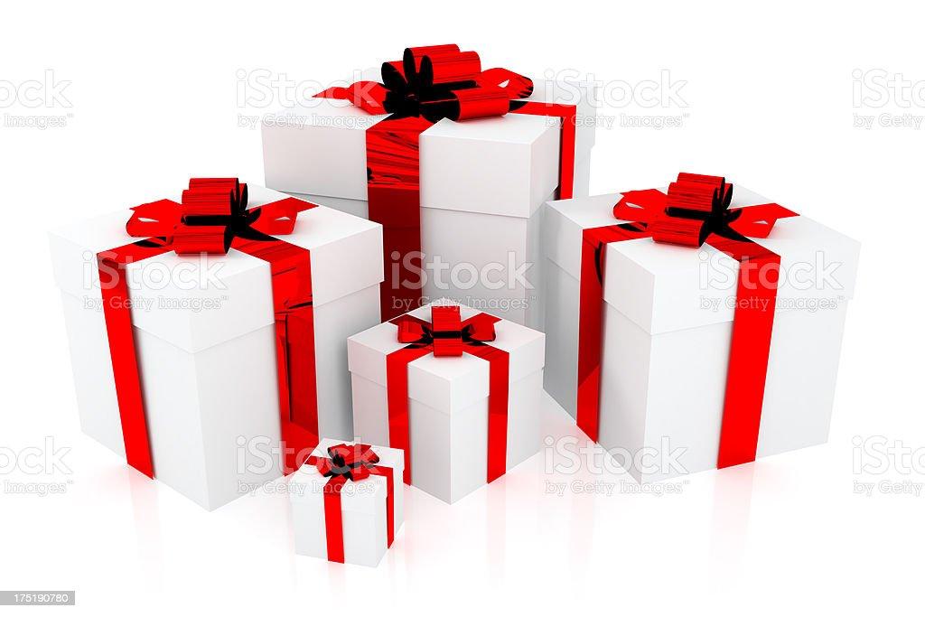 white gift royalty-free stock photo
