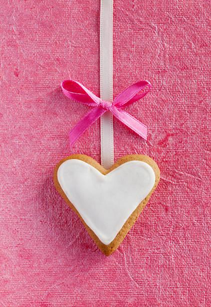 White Ingwer Herzen für Valentinstag. – Foto