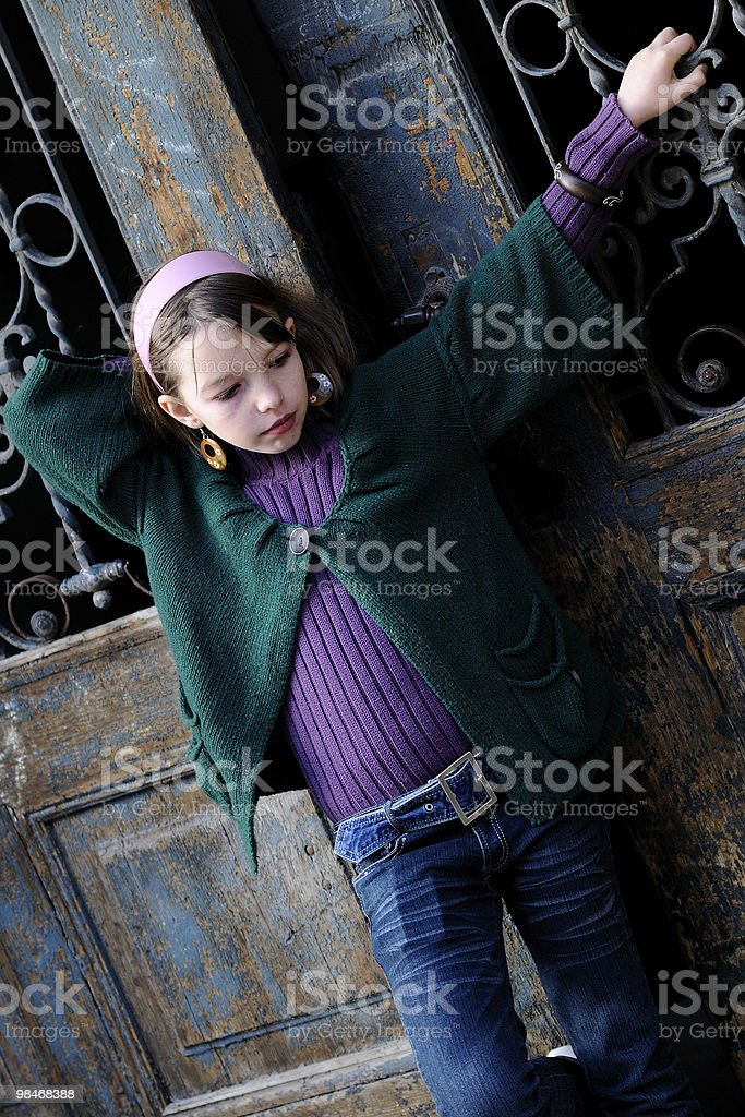 white girl presenting spring collection royalty-free stock photo