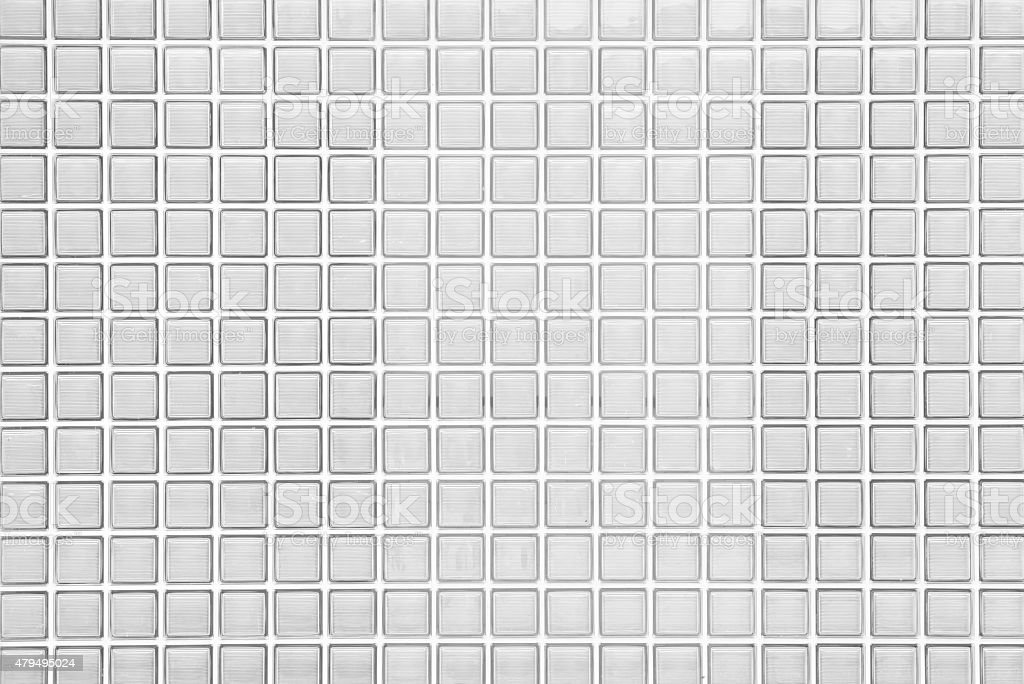 Seamless Block Wall : White glass block wall seamless background and texture