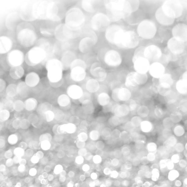 white glitter christmas abstract background stock photo