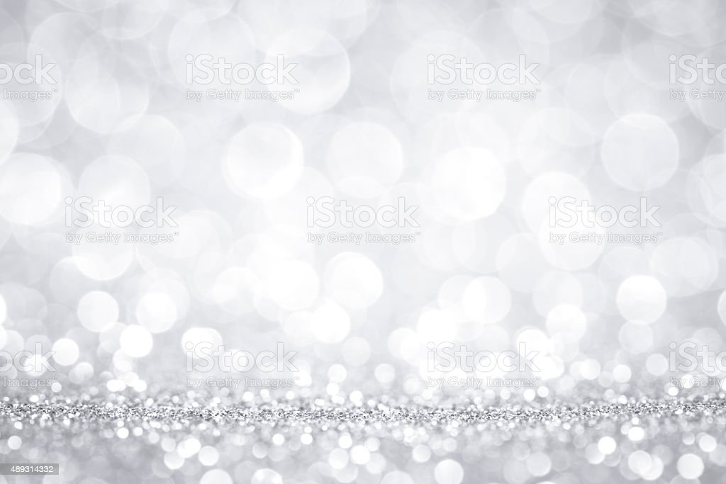 White glitter defocused lights stock photo