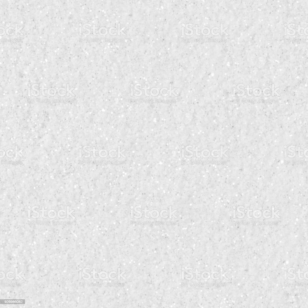 White glitter. Seamless square texture stock photo