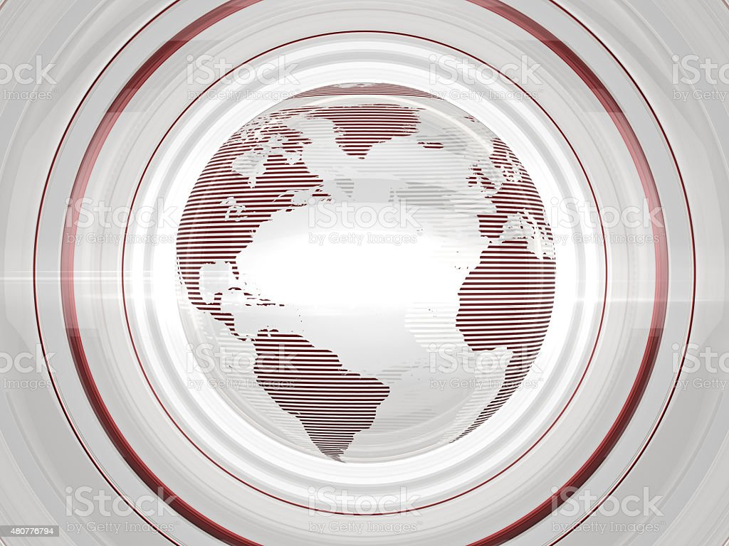 White Glossy Globe stock photo