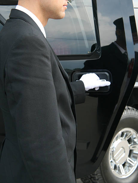 white glove service - limousine service stock photos and pictures