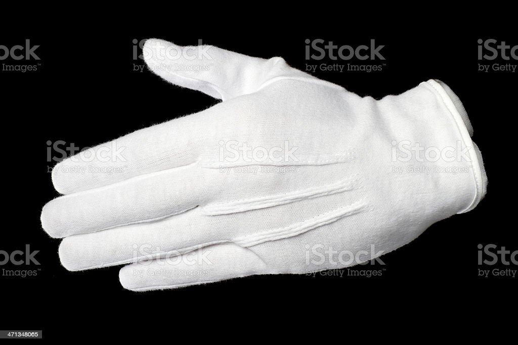 white glove shake stock photo