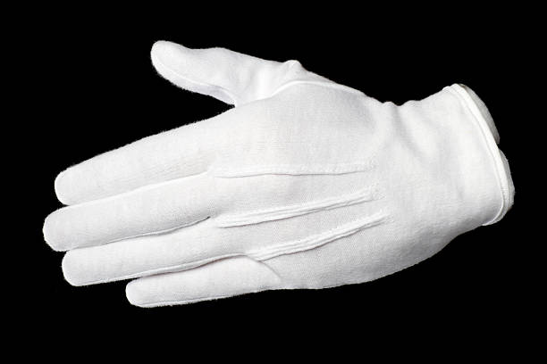 paire de gants blancs shake - paire de gants photos et images de collection