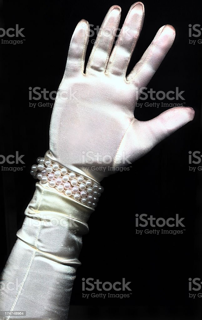 White Gloved Hand royalty-free stock photo