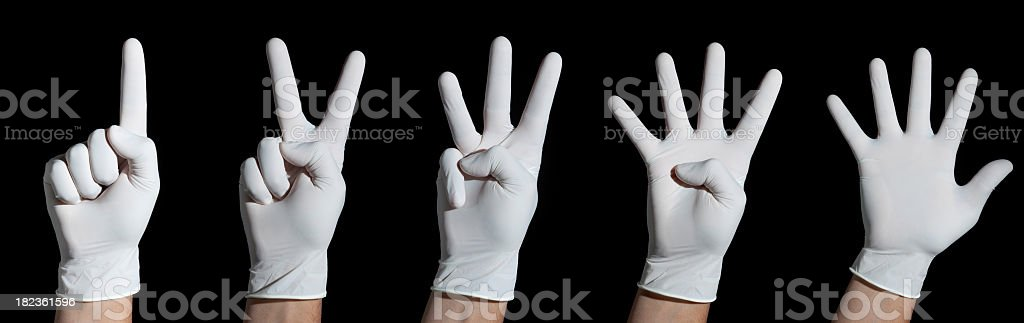 White gloved hands royalty-free stock photo
