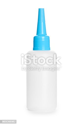 istock White glue container isolated on a white background 865066982