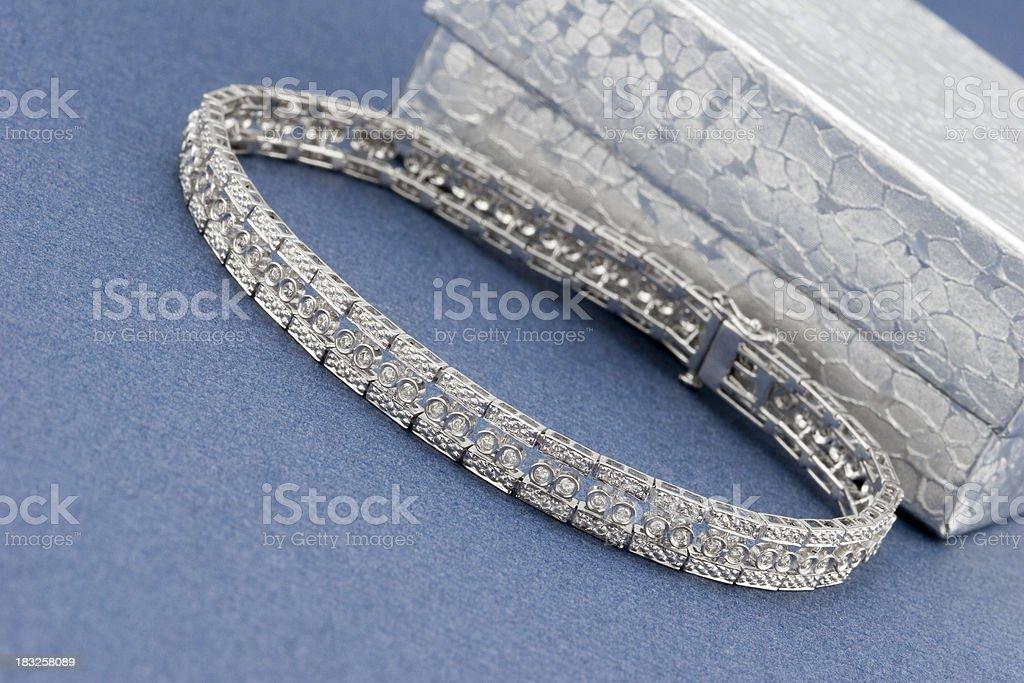 White Gold Diamond Bracelet royalty-free stock photo