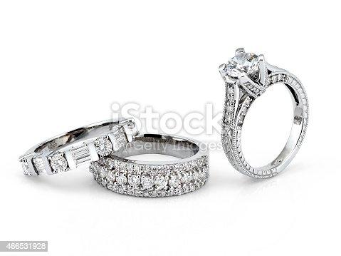 istock White Gold Diamond Rings 466531928