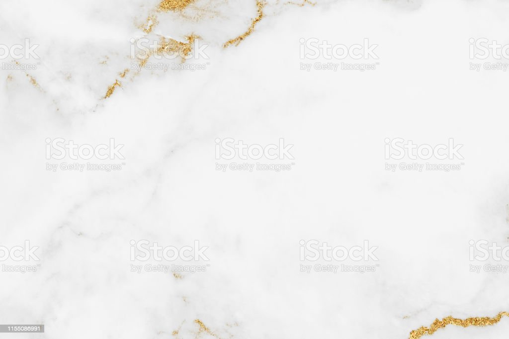 White gold marble texture pattern background with high resolution design for cover book or brochure, poster, wallpaper background or realistic business - Zbiór zdjęć royalty-free (Abstrakcja)