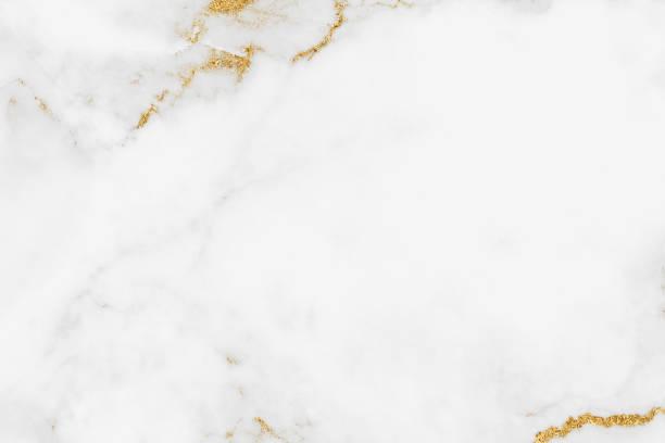 weißer hintergrund für die textur aus goldener marmor mit hochauflösendem design für coverbook oder broschüre, plakat, tapete oder realistisches geschäft - marmorgestein stock-fotos und bilder