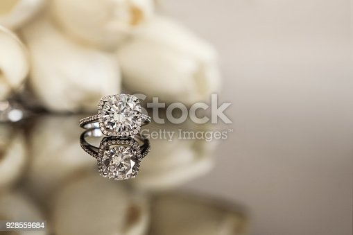 Wedding Ring, Ring, Diamond Ring, White Gold,  Diamond - Gemstone, Tulip,  Wedding,