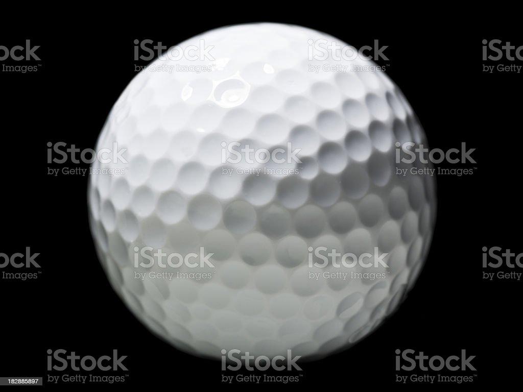 White golf ball royalty-free stock photo