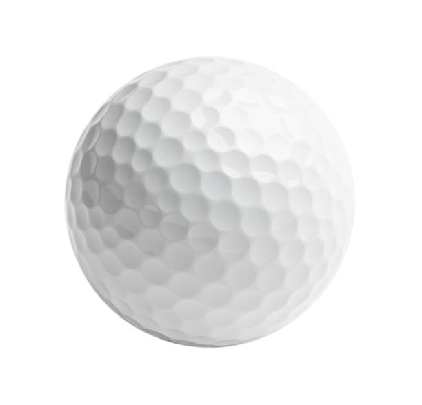 White Golf Ball Professional golf ball Isolated on White Background. golf ball stock pictures, royalty-free photos & images