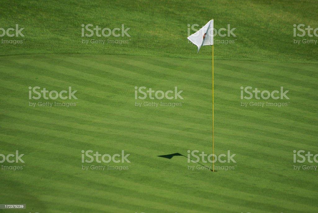 White golf flag stock photo