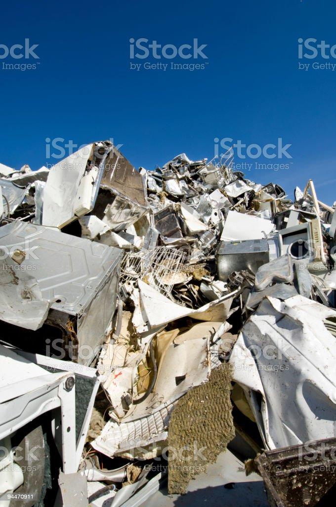 White Goods Recycling Scrapyard royalty-free stock photo