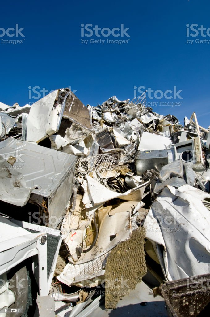 White Goods Recycling Scrapyard stock photo