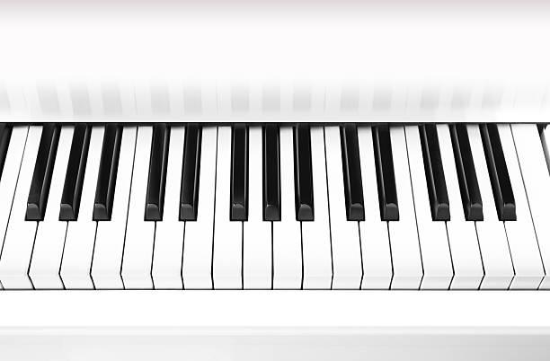 weiße grand piano key, nahaufnahme, hintergrund. - tastatur bilder stock-fotos und bilder