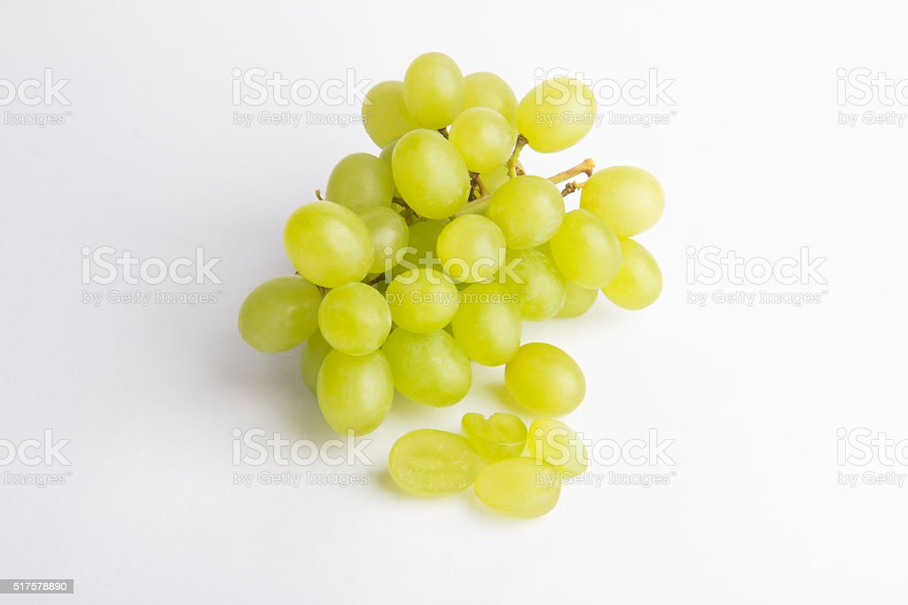 White Grapes stock photo