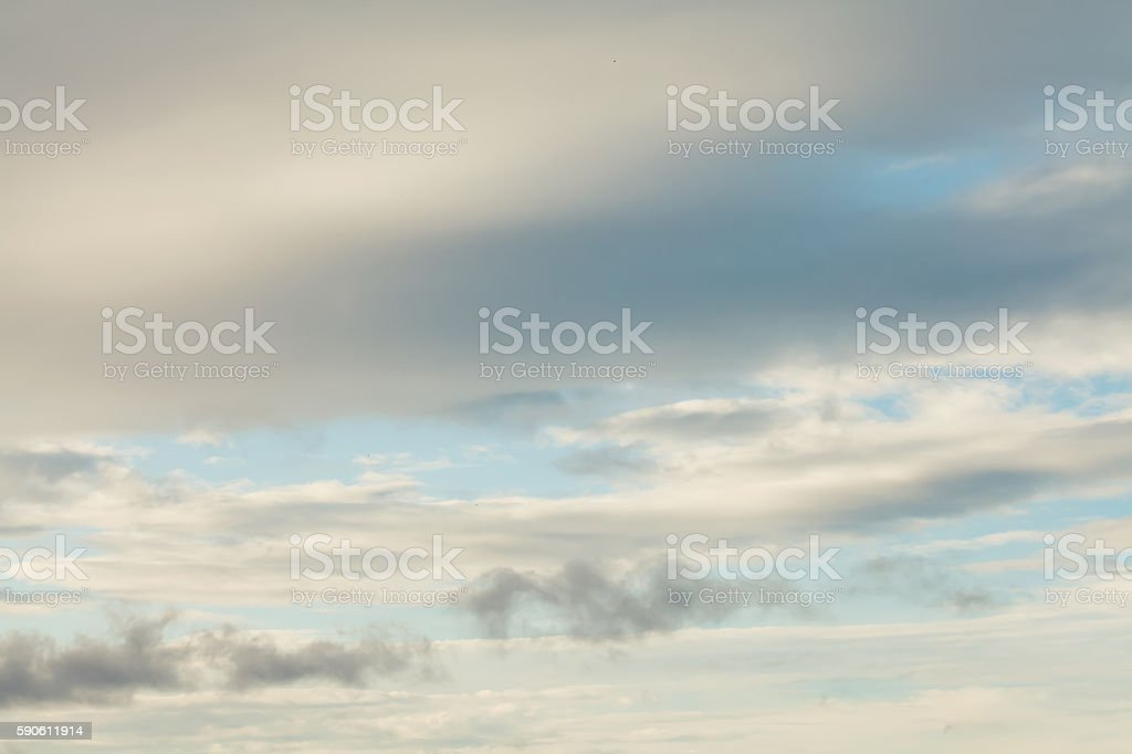 Photo white gray clouds on sky landscape. weather change concept.