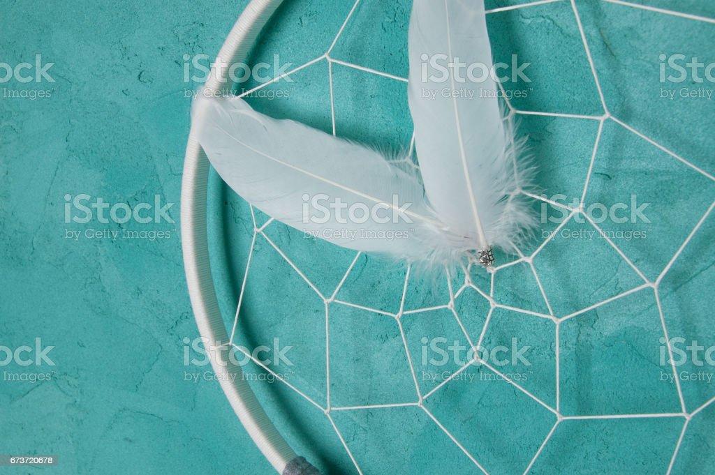 White gray dream catcher photo libre de droits