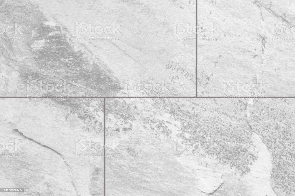 Weiss Grau Marmor Stein Fliesen Boden Textur Und Hintergrund Stock