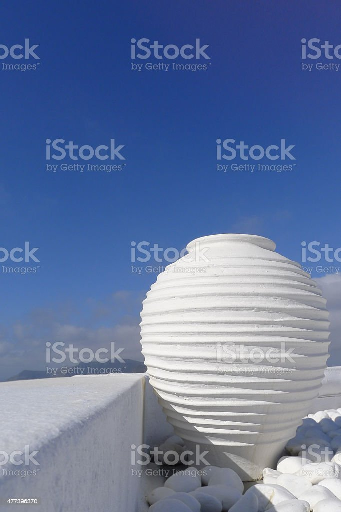 white greek amfora of Santorini island - Royalty-free 2015 Stock Photo