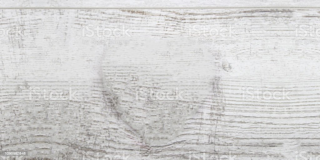 White, grey wooden wall texture, old painted pine planks stock photo