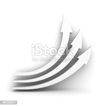 istock white growing up arrows with shadow 483290371