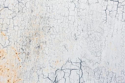 Full frame shot of grungy old white metal.