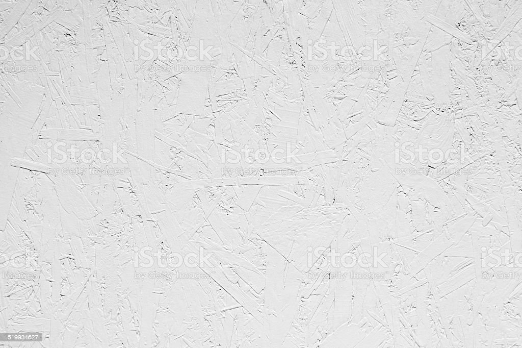 White grungy painted wooden plywood wall stock photo