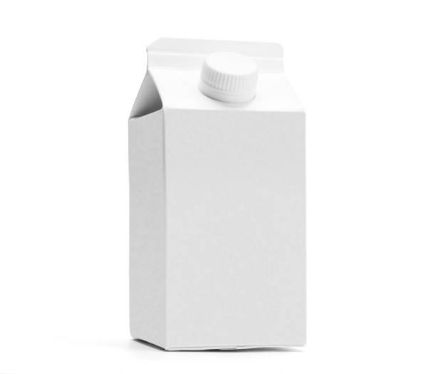 Blanc à moitié une maquette de boîte litre lait - Photo