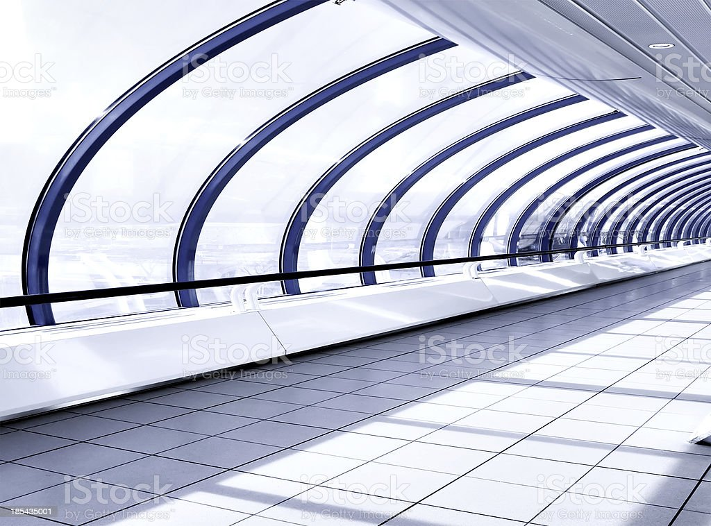 White hall of office centre royalty-free stock photo