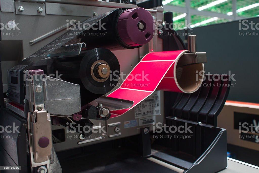 white hand presses the trigger fire extinguisher Lizenzfreies stock-foto