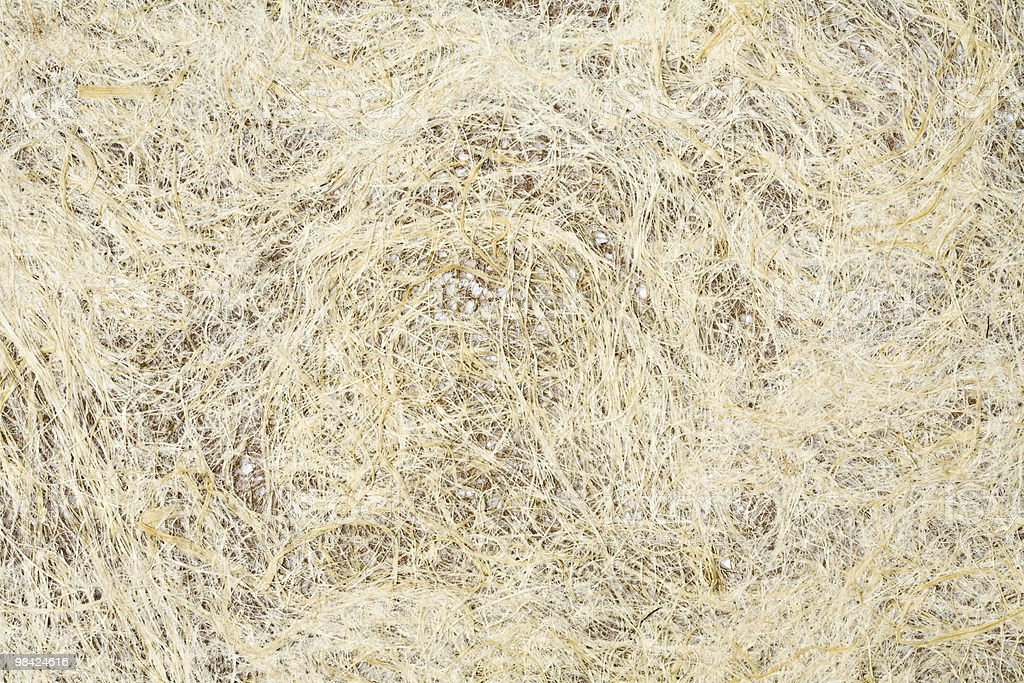White handmade grunge paper with coir fibers royalty-free stock photo