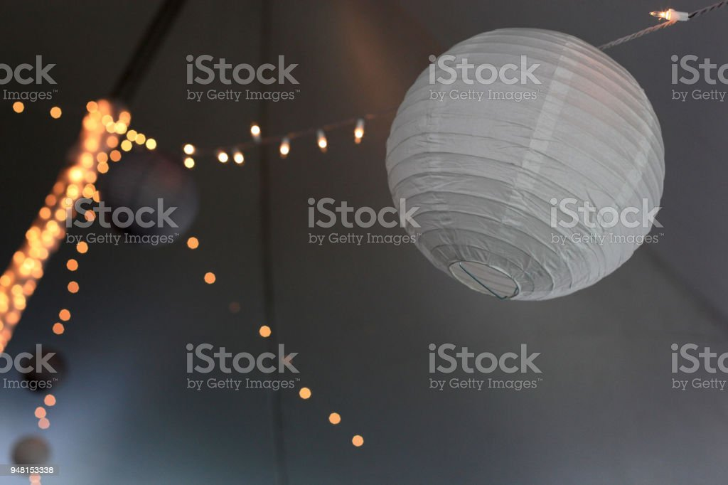 White Hanging Lanterns For Decoration In A Wedding Tent Stock Photo Download Image Now Istock