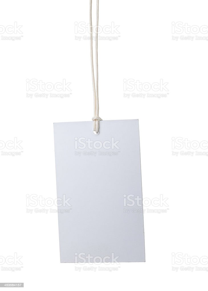 White Hanging Tag royalty-free stock photo
