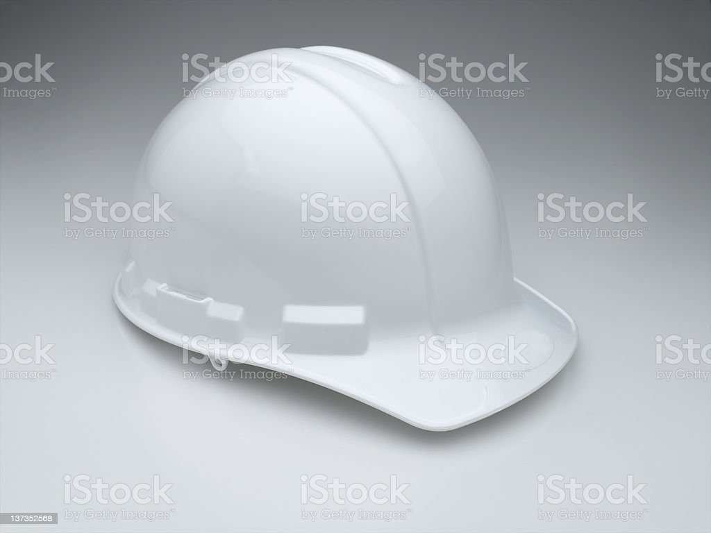 White Hard Hat XXXL stock photo