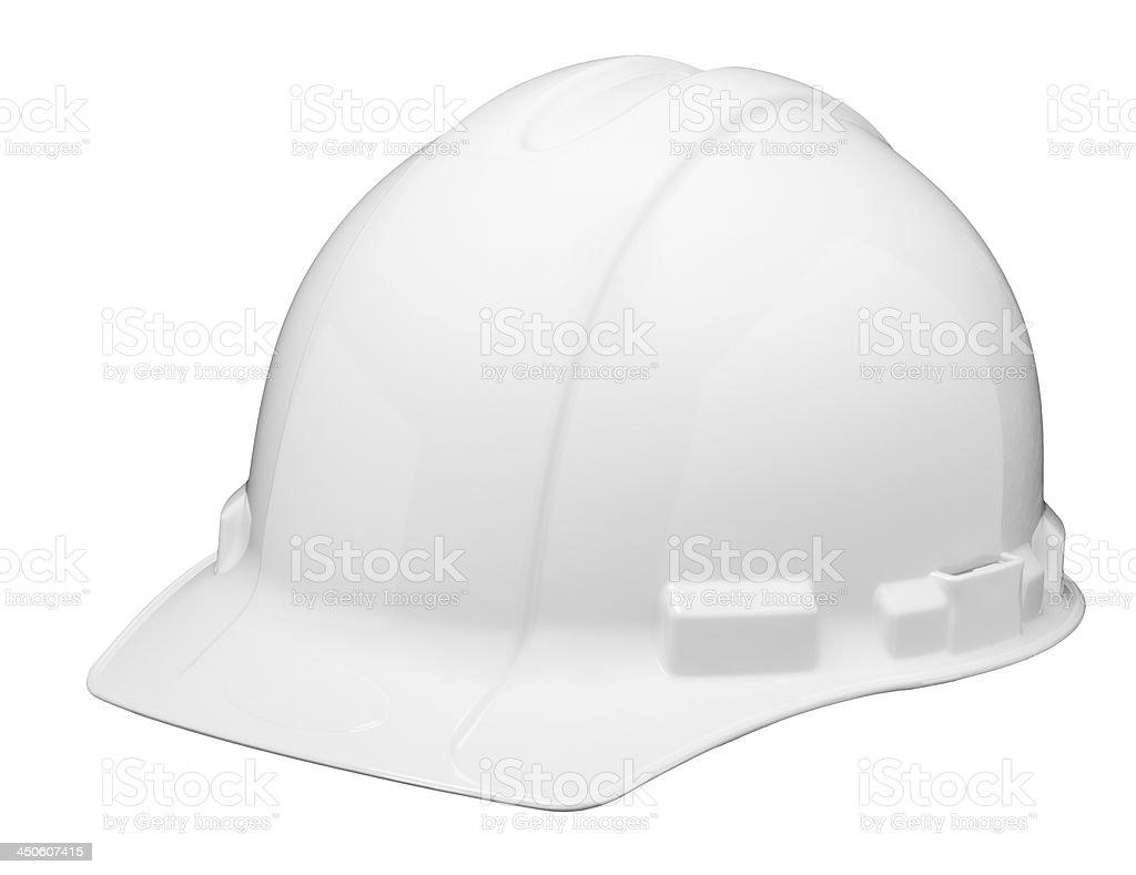 White Hardhat Isolated stock photo
