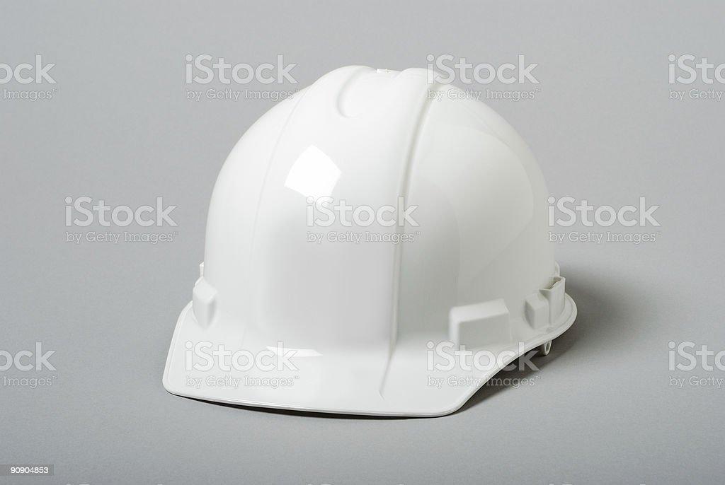 White Hardhat stock photo