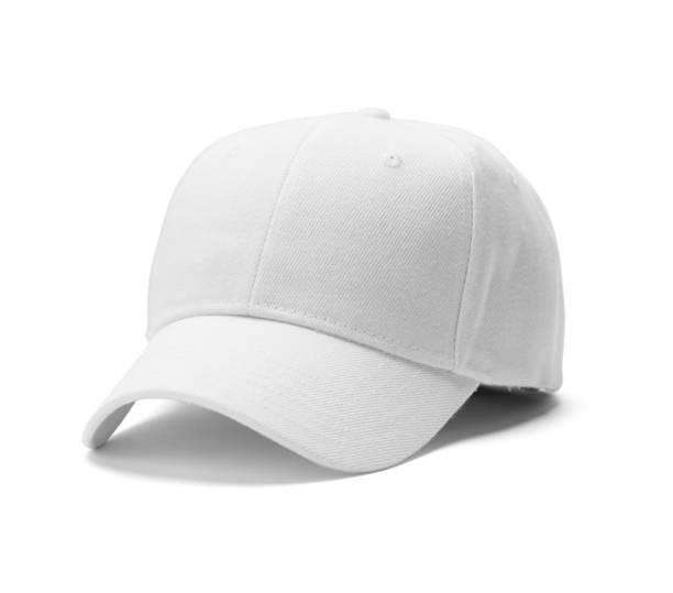 White Hat White Baseball Hat Isolated on White Background. baseball cap stock pictures, royalty-free photos & images